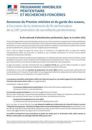 programme immobilier penitentiaire